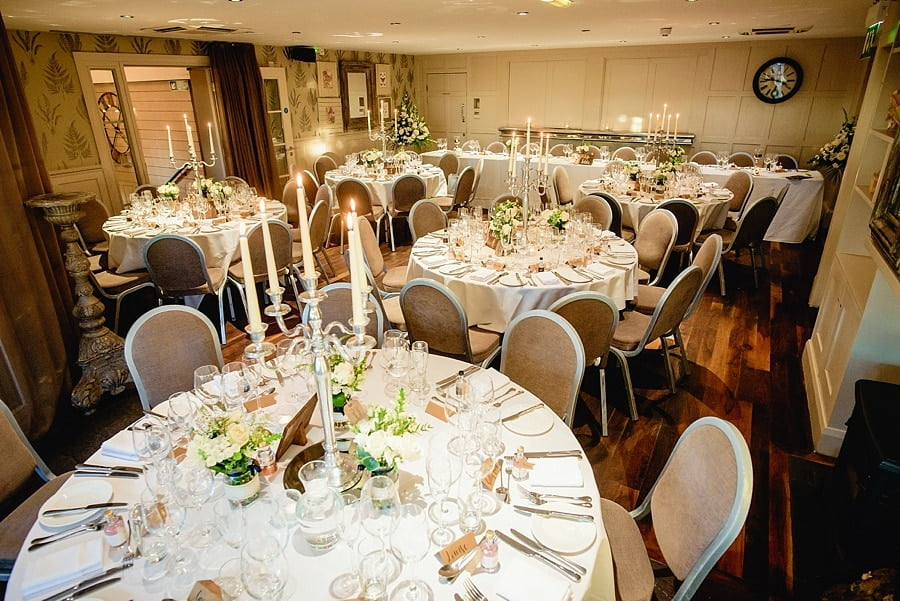 great john street hotel set for a wedding
