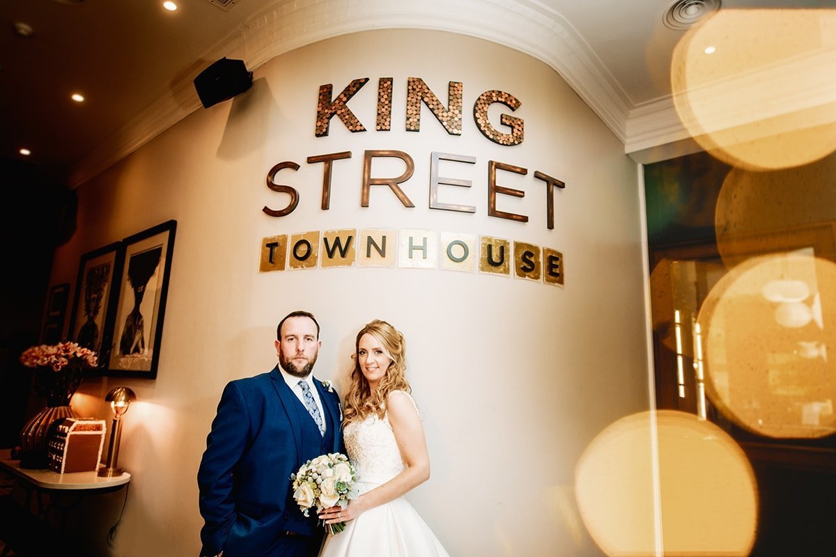 king street townhouse wedding photo