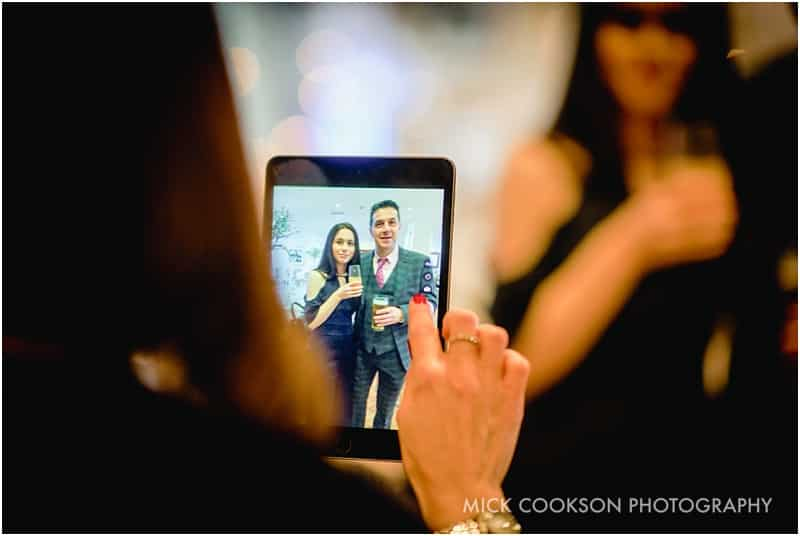 ipad at a wedding