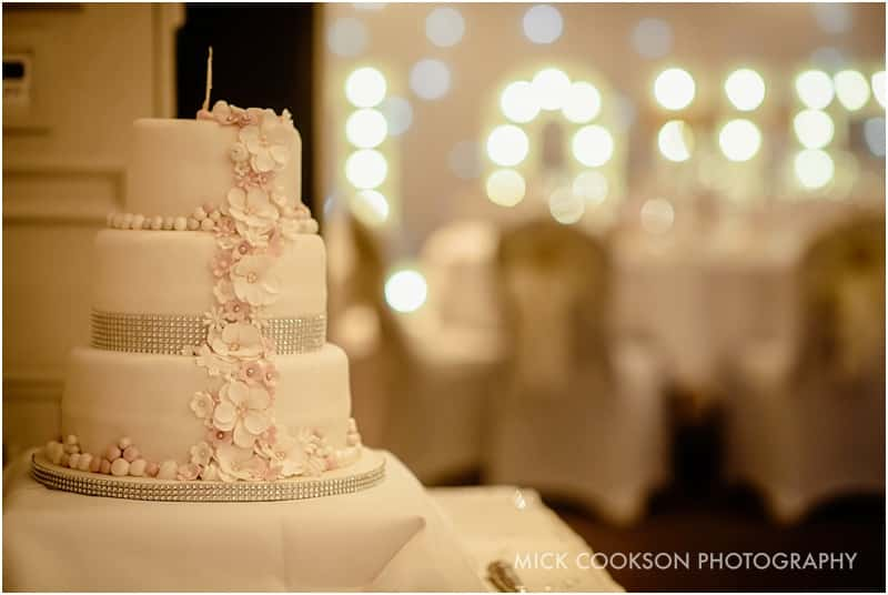 wedding cake at mottram hall