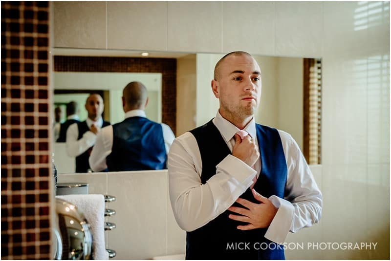 groom getting ready at northcote