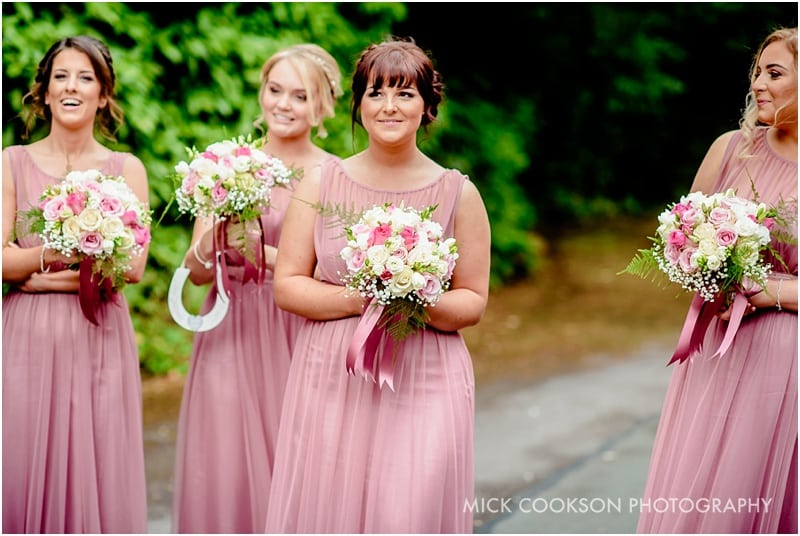 bridesmaids at a lancashire wedding