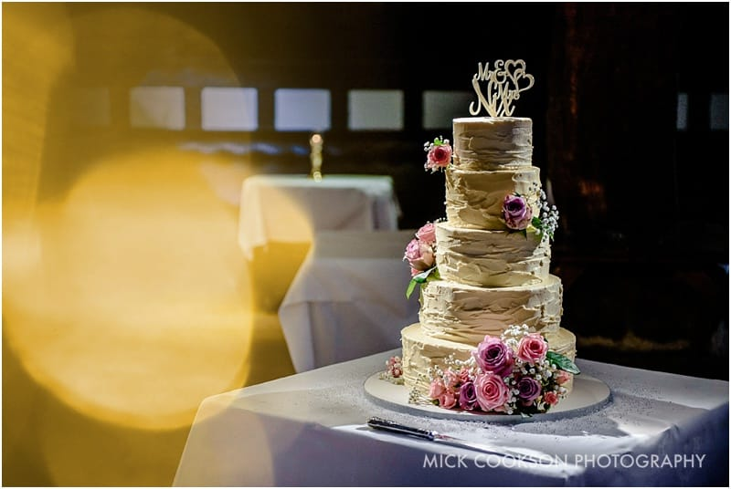 incredible wedding cake at rivington hall barn