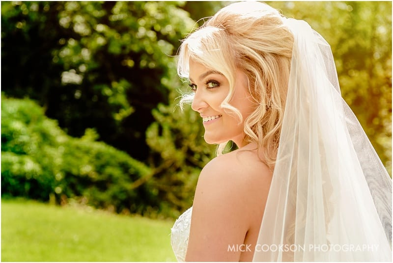 stunning bride at rivington hall barn
