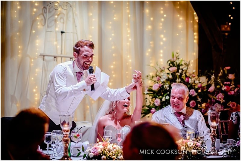 wedding speeches at rivington hall barn