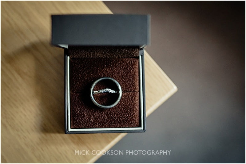 wedding rings at stirk house