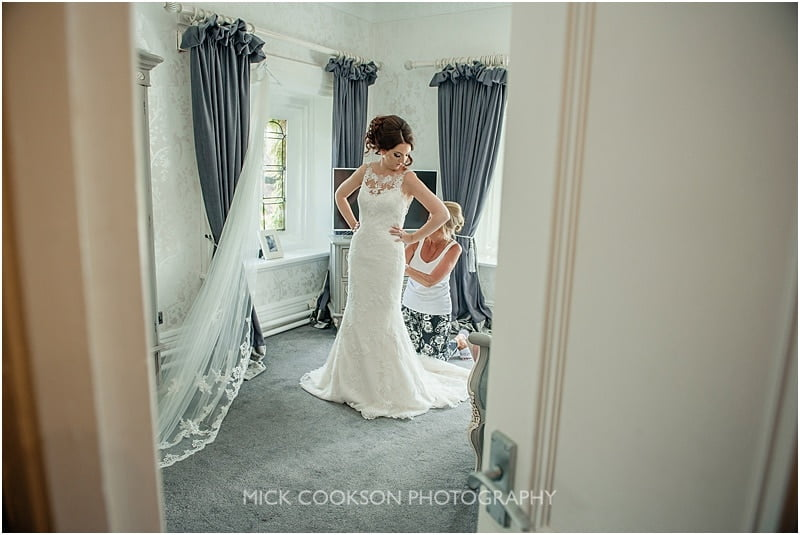 nervous bride at a stirk house wedding