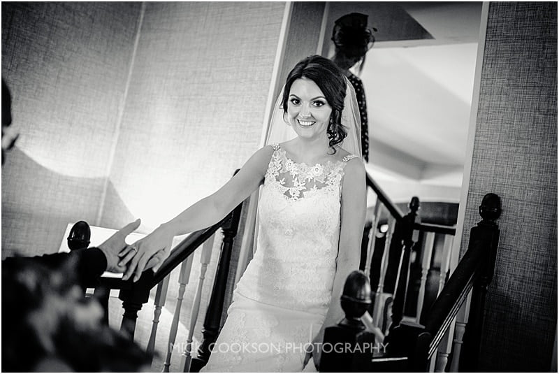 excited bride at stirk house