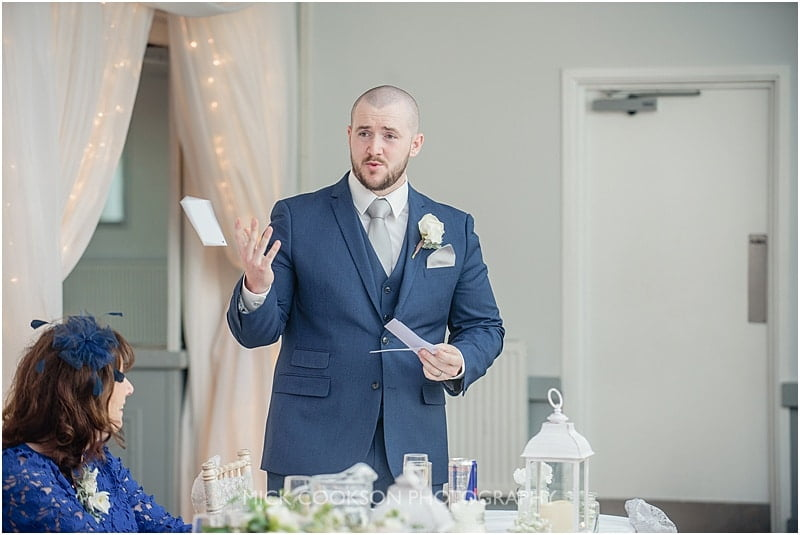 best man throws his speech away
