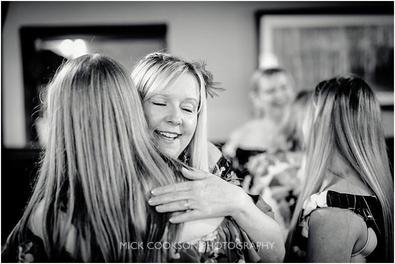 guests hugging at the shireburn arms
