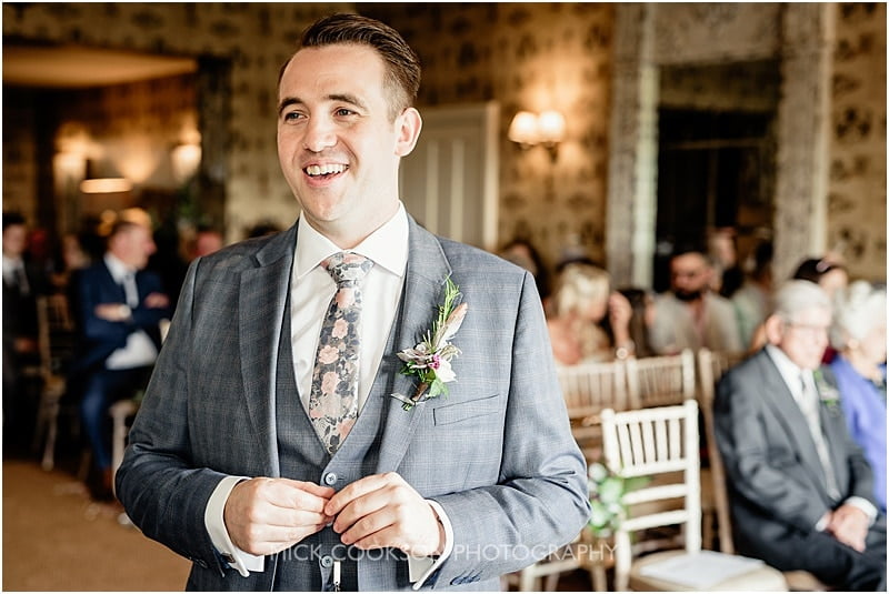 happy groom at the shireburn arms