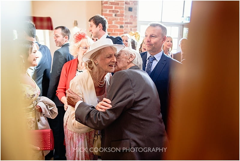 kiss for gran at a wedding