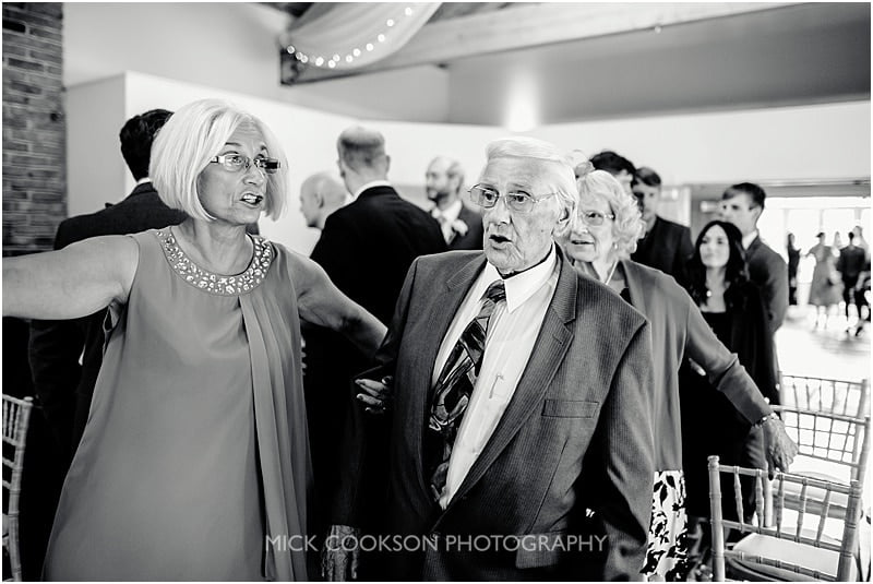 grandad at a wedding