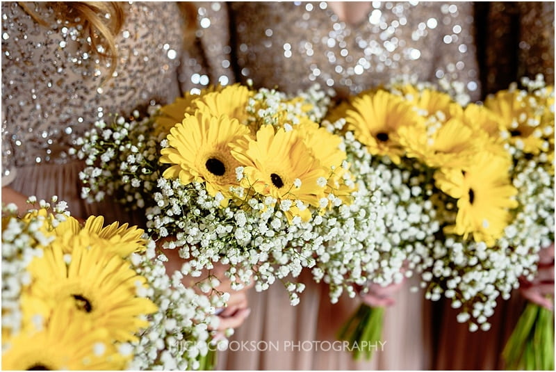 bridesmaids bouquets at charnock farm