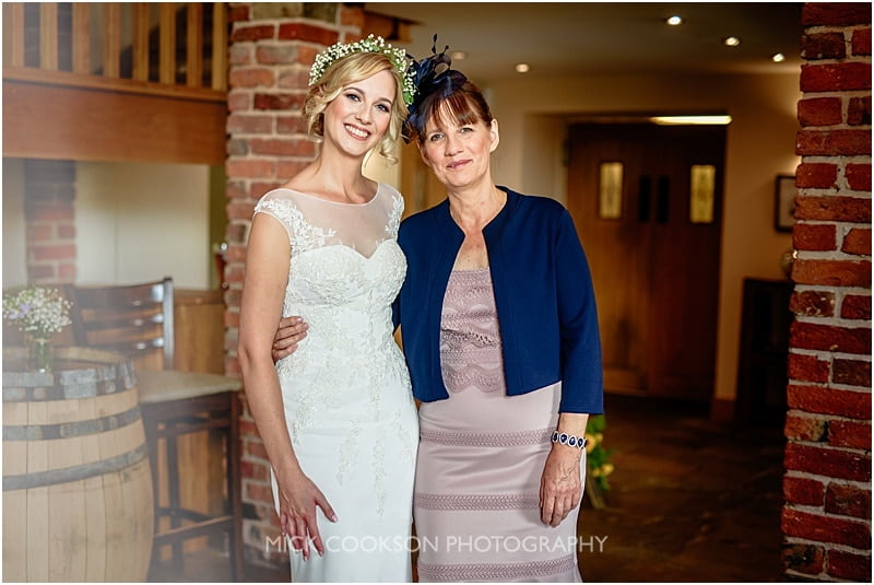 bride and her proud mum photo