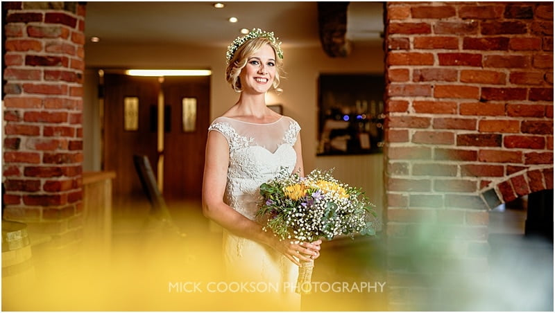 stylish bride photo at charnock farm