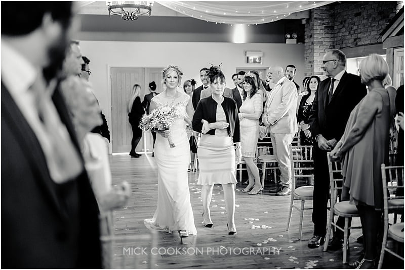the bride at charnock farm wedding