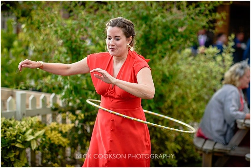 wedding guest hula hoop