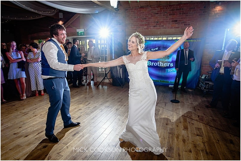 first dance at a charnock farm wedding