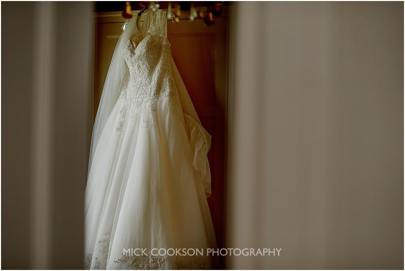 wedding dress at colshaw hall