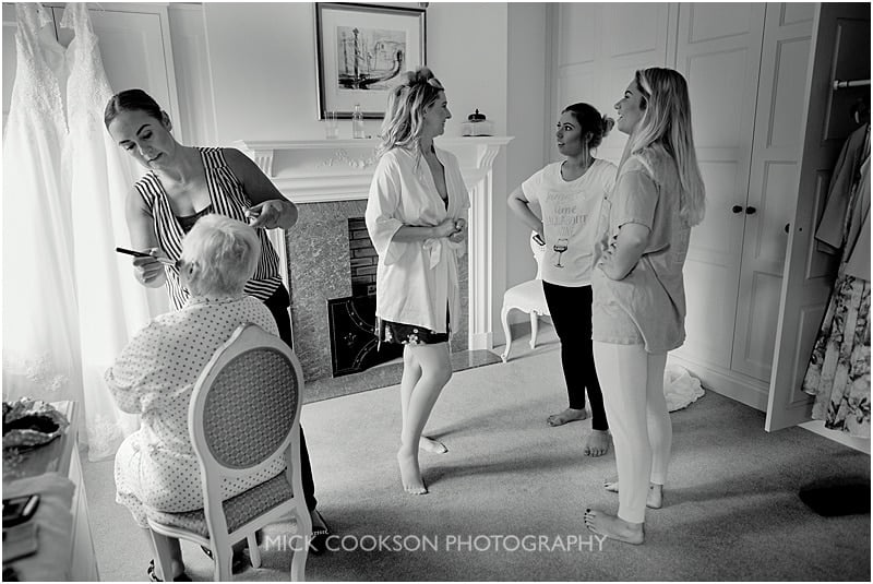colshaw hall wedding preparations