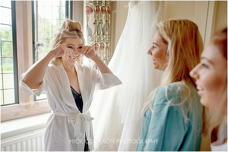 emotional bride at colshaw hall