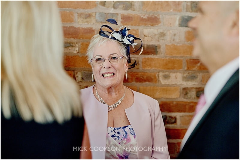 mother of the bride at a colshaw hall wedding