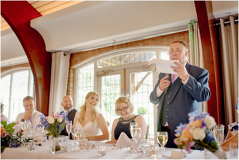 father of the bride at a cheshire wedding