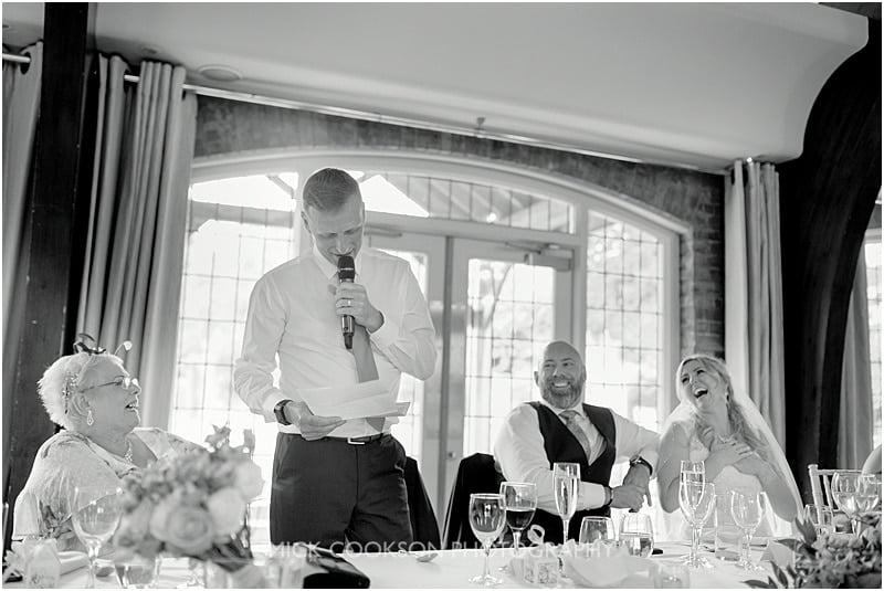 best man speech at a colshaw hall wedding