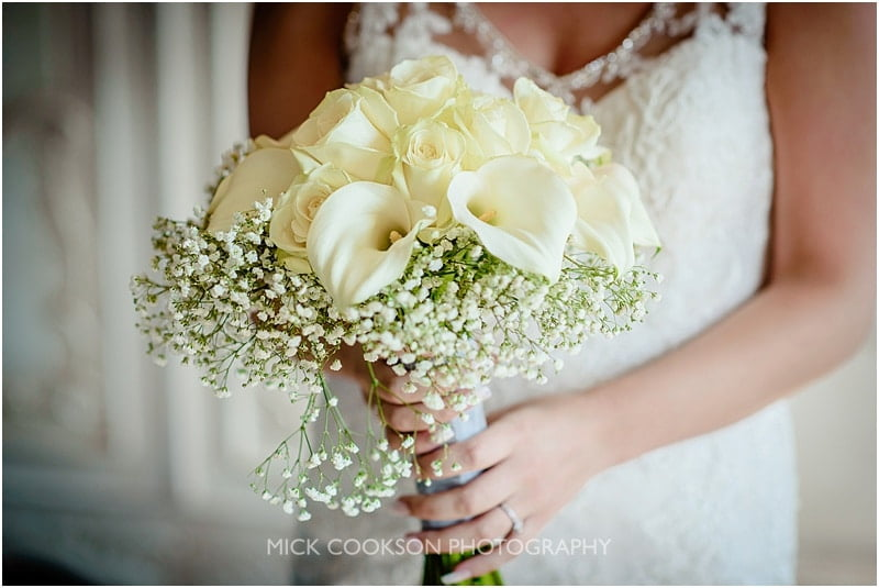 wedding bouquet at eaves hall