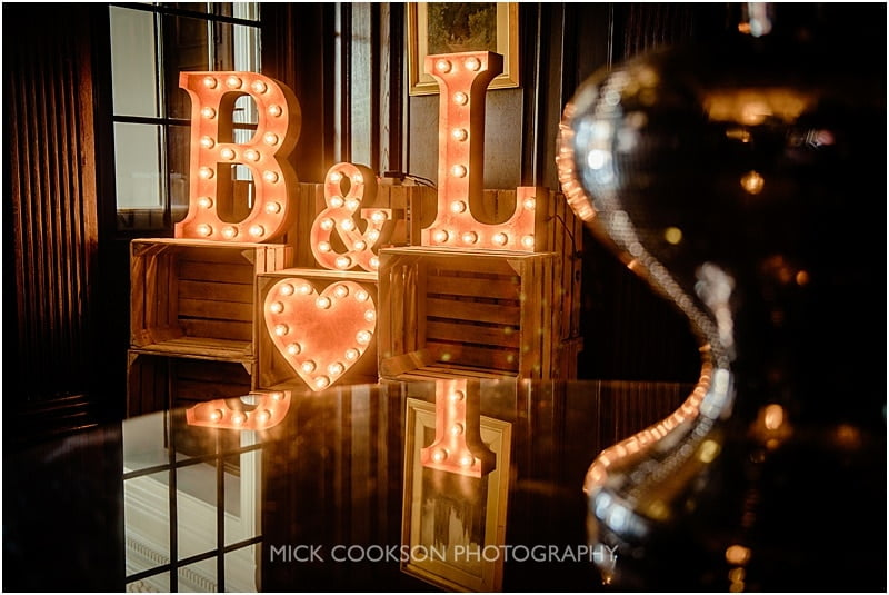 light up love letters at eaves hall