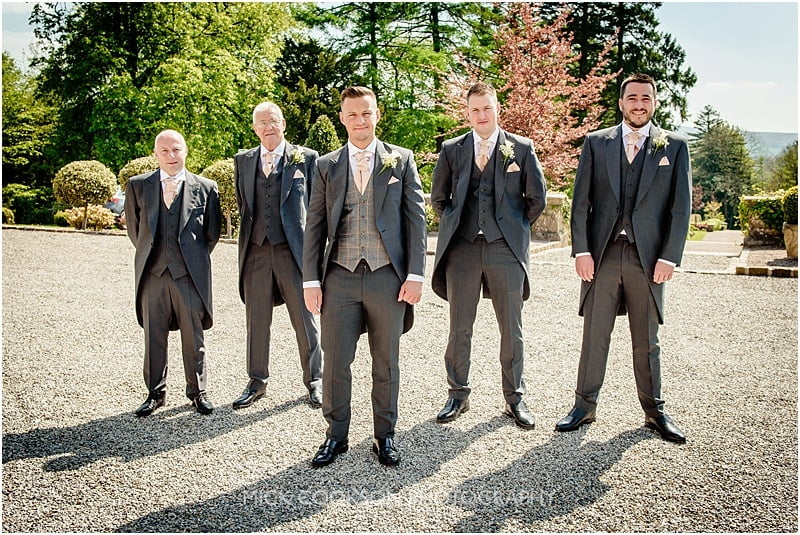 groomsmen at eaves hall
