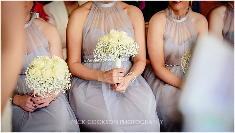 bridesmaids dresses and flowers