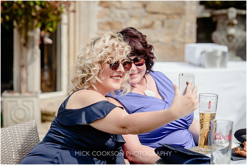 selfie time at a mitton hall wedding