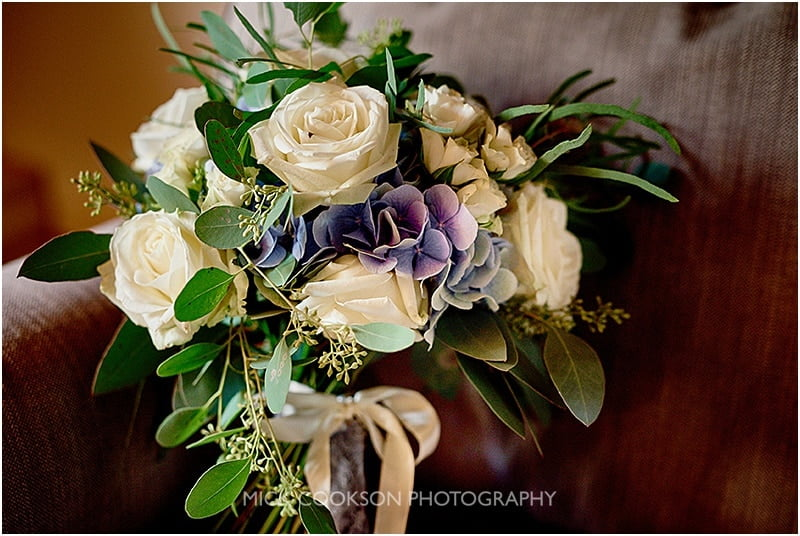 wedding bouquet at the oak tree of peover