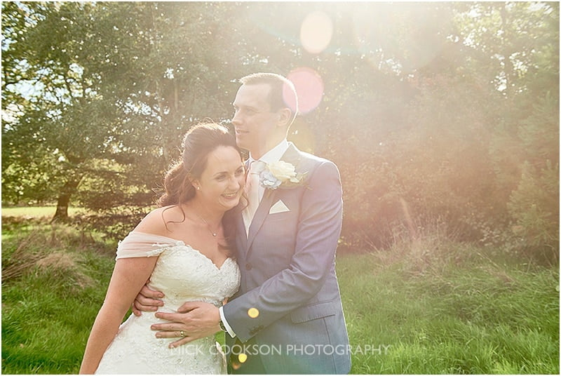 bride and groom photo in the sunshine