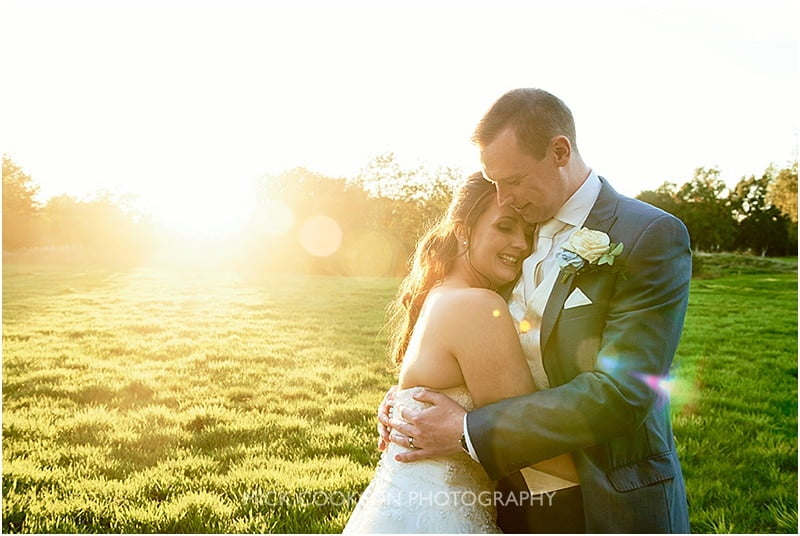 stunning sunlight bride and groom photo