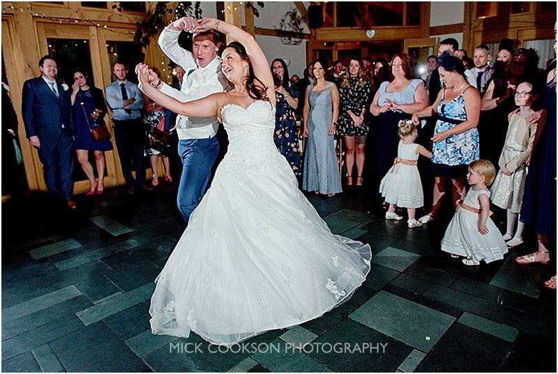 oak tree of peover wedding dancing