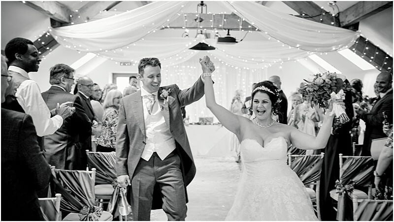 just married wedding photo at beeston manor taken by manchester wedding photographer mick cookson