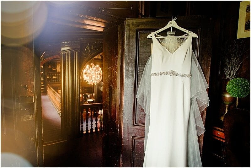 wedding dress at mitton hall
