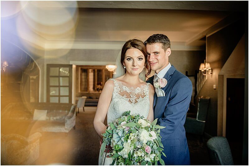 bride and groom portrait at stirk house