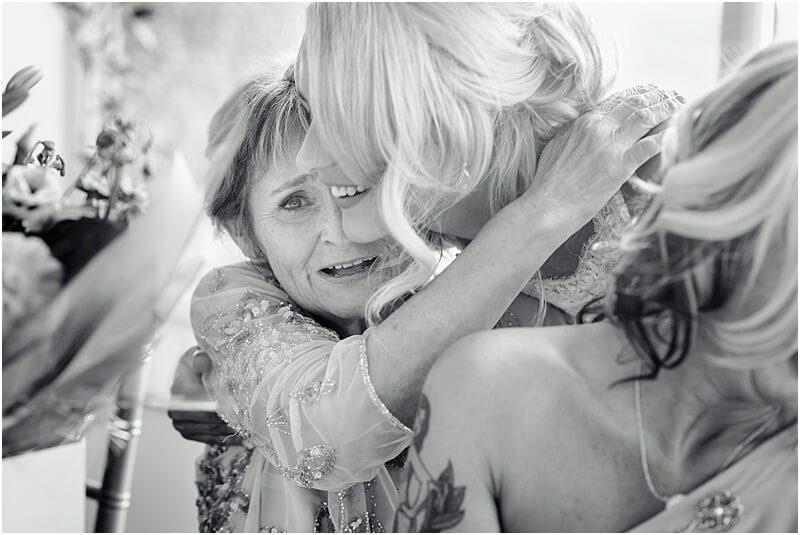 emotional mother of the bride at a wedding