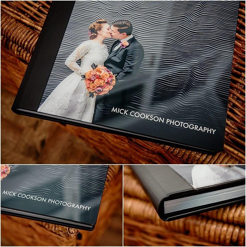 wedding albums by manchester wedding photographer mick cookson