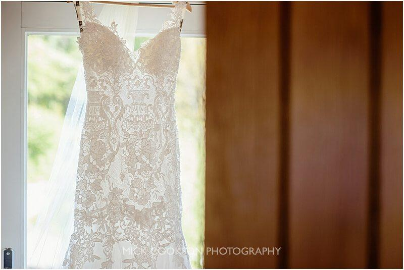 wedding dress at the fisherman's retreat wedding venue