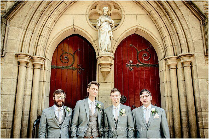 stylish groomsmen photo in ramsbottom