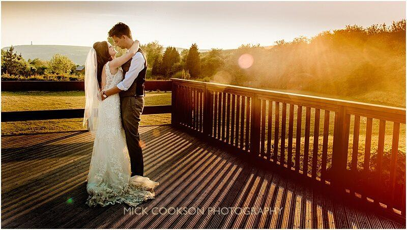 stunning bride and groom wedding photo on the jetty at the fishermans retreat by mick cookson