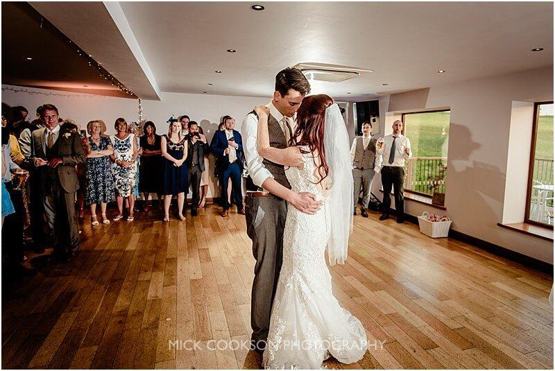 first dance photo at the fishermans retreat by mick cookson photography