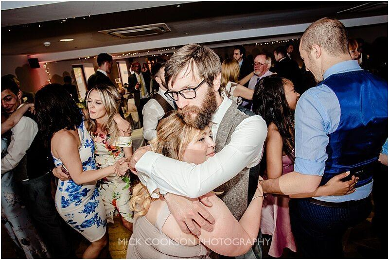 wedding guests dancing at the fishermans retreat by mick cookson photography