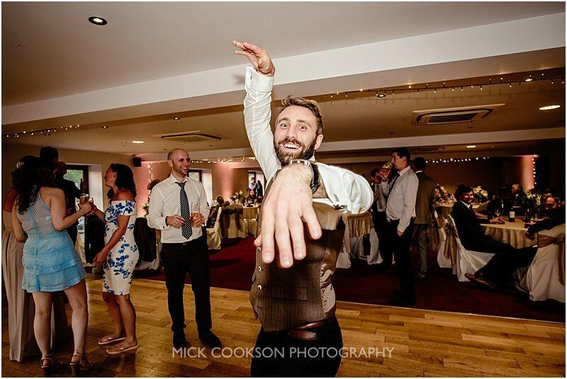 wedding guests dancing at at the fishermans retreat by mick cookson photography