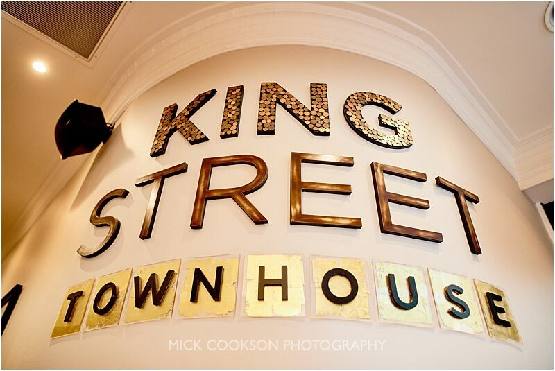 King Street Townhouse wedding photo by manchester wedding photographer mick cookson